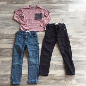 Zara size 5 boys lot shirt jeans